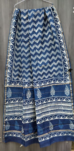 Chanderi Handloom Saree, Chanderi Handblock Saree