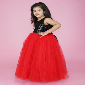 Indian Party Dress For Kids Online In Blackred