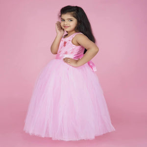 Indian Party Dress For Kids Online In BabyPink