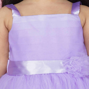 Indo Western Gown For Girls In Purple Color