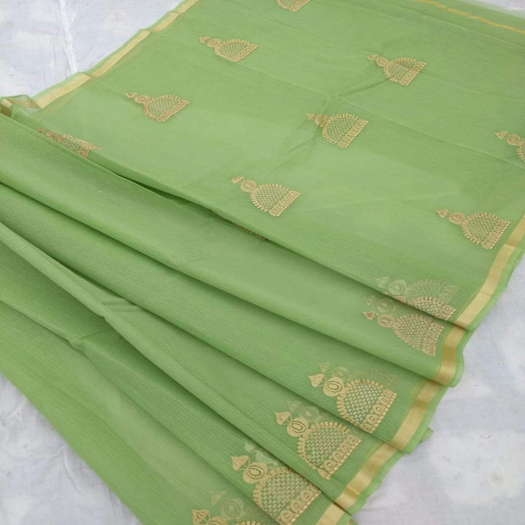 Kota Embroidery Work Saree, Kota cotton sarees online, kota cotton saree