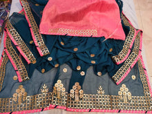 Load image into Gallery viewer, Latest Gota Patti Work Sarees In Navyblue