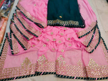 Load image into Gallery viewer, Latest Gota Patti Work Sarees In Pink