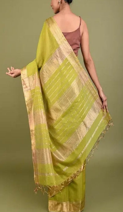 Light Green Maheshwari Saree With Zari, Maheshwari saree price, Maheshwari sarees online India