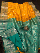 Load image into Gallery viewer, Mango Upada Silk Sarees,Upada Silk Banarasee Saree,Upada Silk Saree
