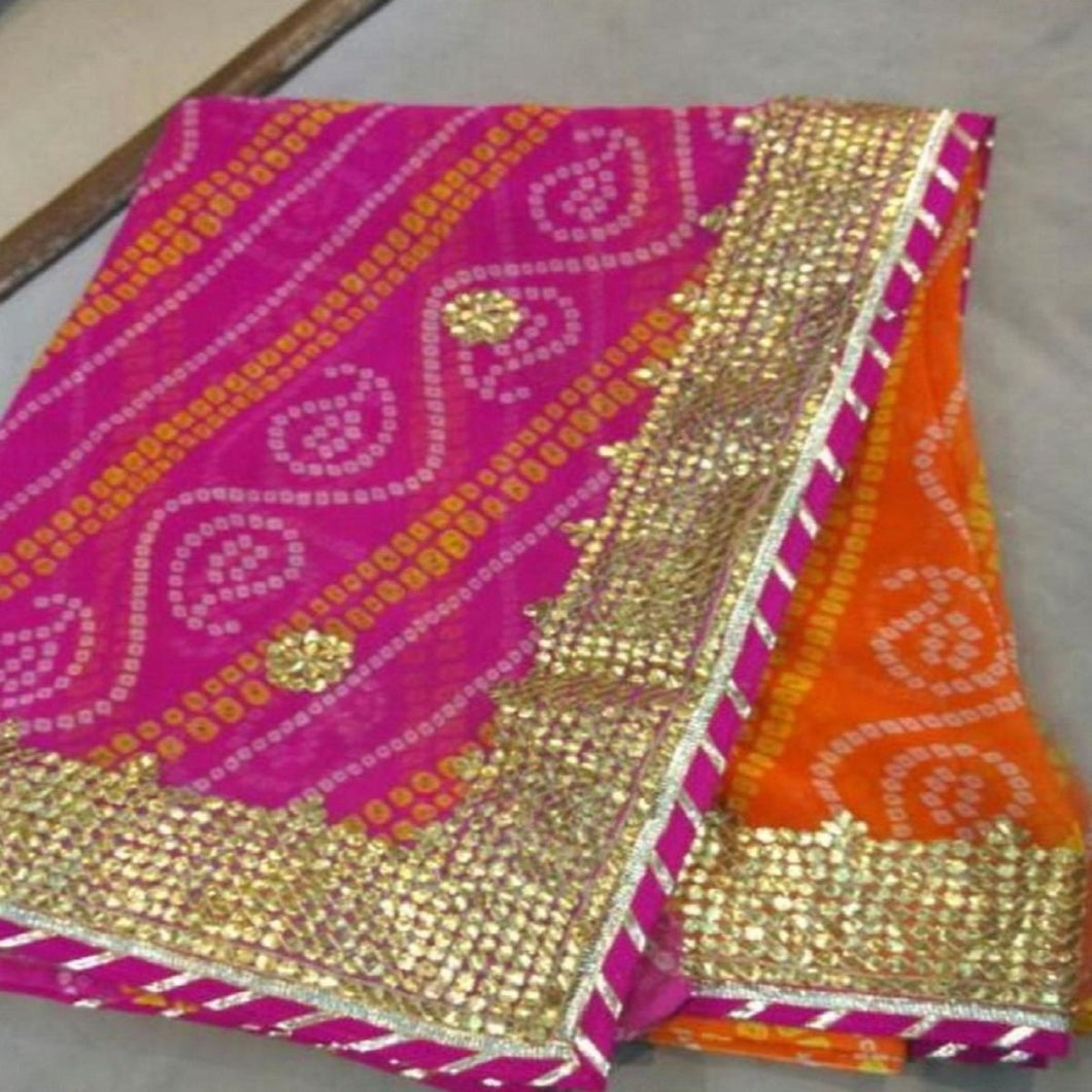 Multicolored Heavy Gota Patti Sarees,Gota Patti Saree Design,Gota Patti Saree Catelogue