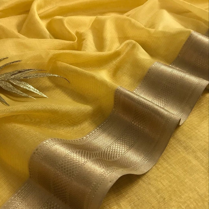 Mustard Yellow Maheshwari Saree With Zari, Maheshwari saree price, Maheshwari sarees online India