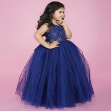Load image into Gallery viewer, NavyBlue PartyWear Full Gown For Girl