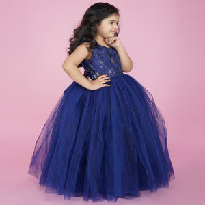 NavyBlue PartyWear Full Gown For Girl