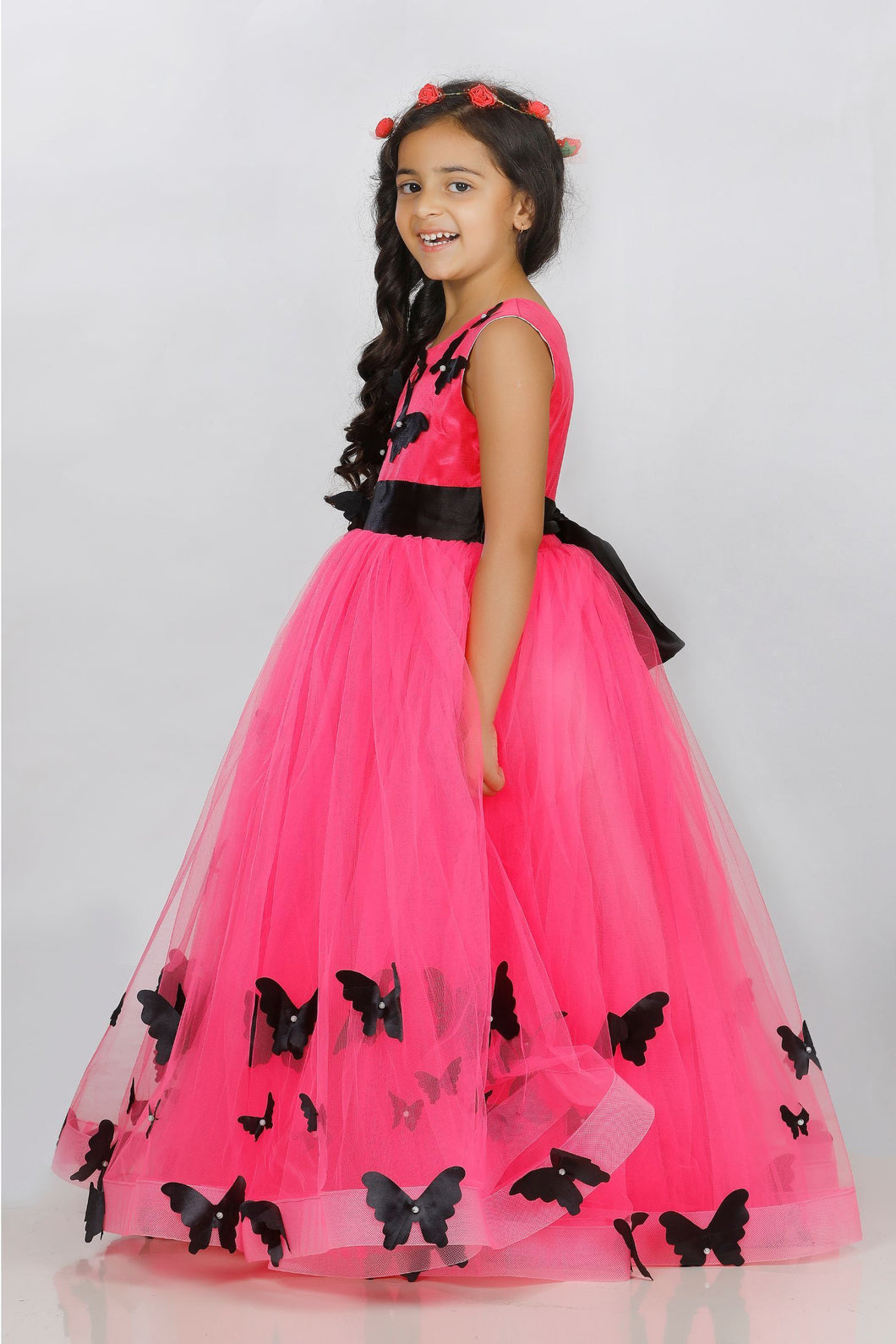PINK beautiful party wear dresses for girls