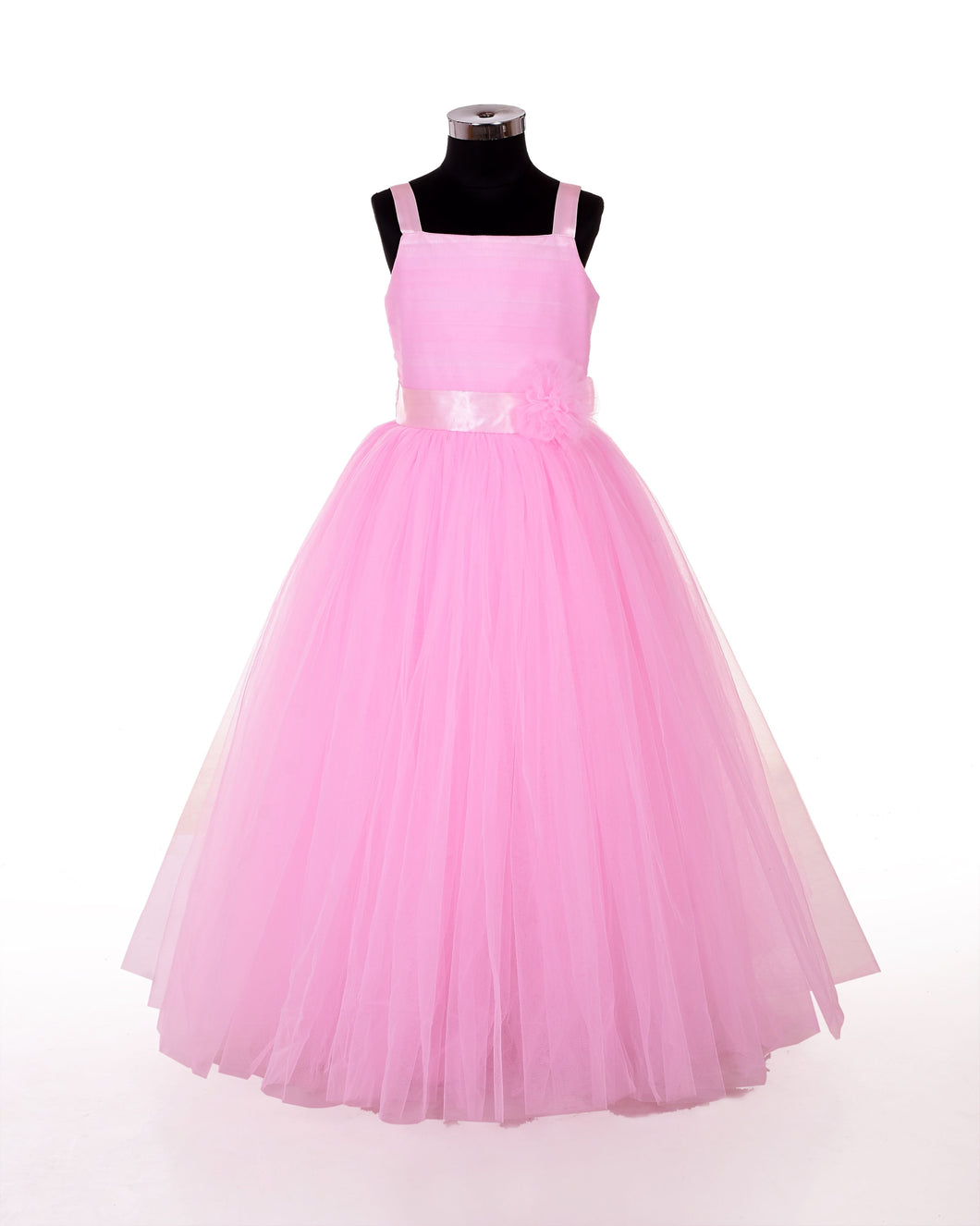 Party wear designer pink gown for girls