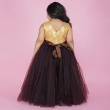 Load image into Gallery viewer, PartyWear Gown For Baby In Brown Color