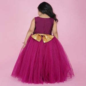 PartyWear Gown For Baby In Malberry