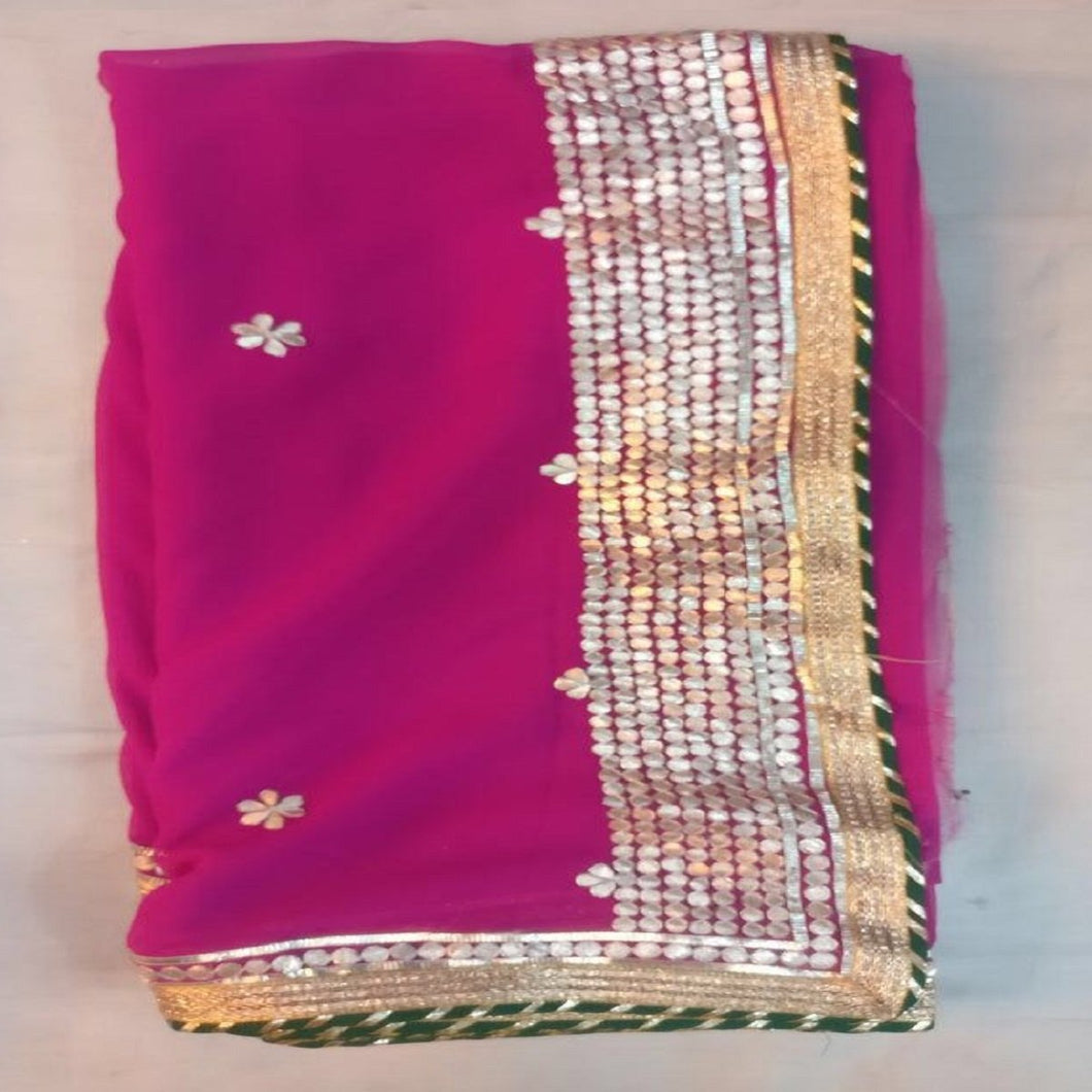 Pink gota patti saree design,Gota Patti Saree Jaipur, Gota patti saree wholesale