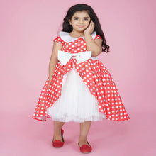 Load image into Gallery viewer, Polka Dot Dress For Girl Whitered Color