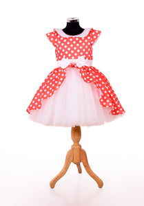 Red stylish baby frock design