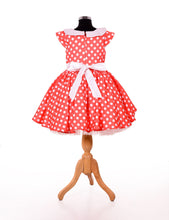 Load image into Gallery viewer, Red stylish baby frock design
