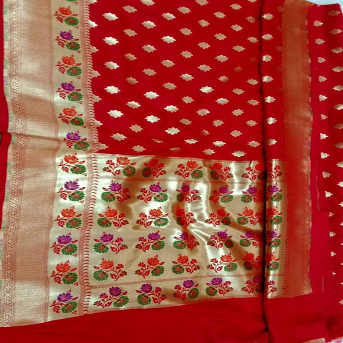 Red Katan Silk Banarasi Saree,Traditional Sarees, Banarasi Saree, Katan Silk Banarasi saree, Banarasi Handloom Saree