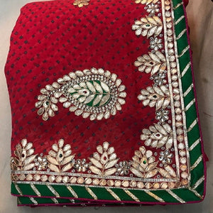 Red gota patti work saree,Gota Patti Saree Online, Gota Patti Saree Dikhaiye