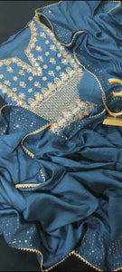 Gota Patti  Blue Salwar Suit