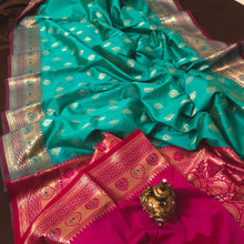 Load image into Gallery viewer, Sea green upada silk saree