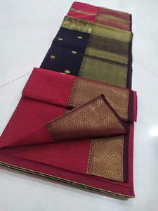 Traditional Maheshwari Sarees In Blackpink,Maheshwari Cotton Sarees Price