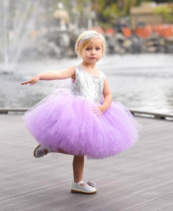 Tutu Dress For 1 Year Old In Levender Color