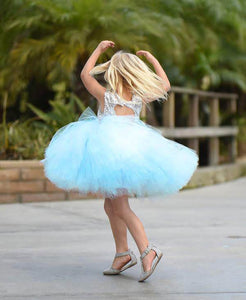 Tutu Dress For 1 Year Old In Skyblue Color