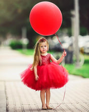 Load image into Gallery viewer, Tutu Dress For 1 Year Old Red Color