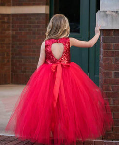 Tutu Dress For Baby Girl In Bright Red Color