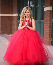 Load image into Gallery viewer, Tutu Dress For Baby Girl In Bright Red Color