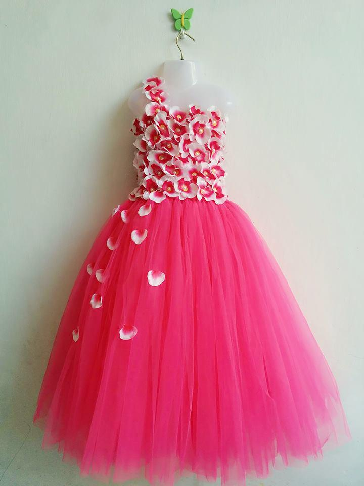 Preety Pink Tutu Dress For Kids