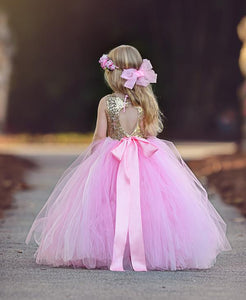 Tutu Dress For Newborn Babies In Babypink Color