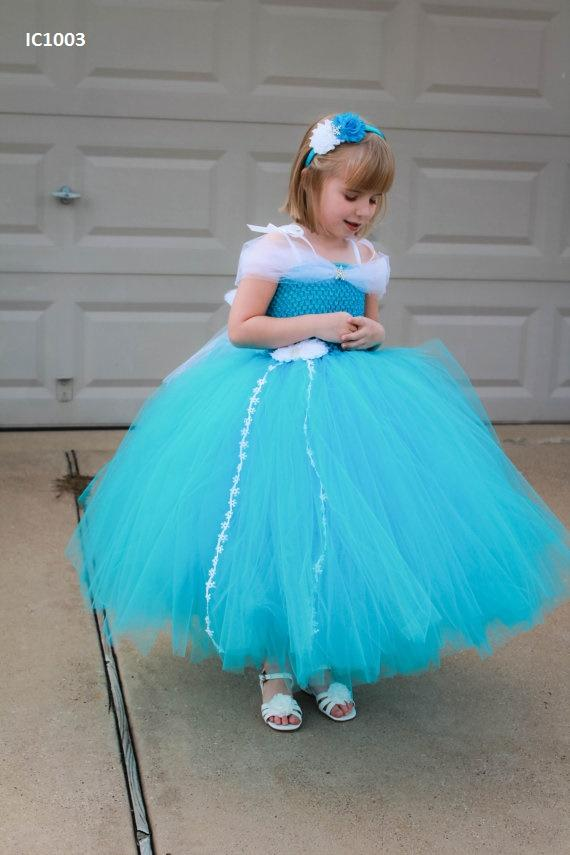 Turquoise Tutu Dress For Girl