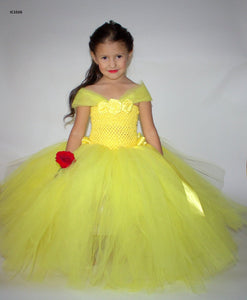 Lemon Yellow Tutu Dresses For Girls