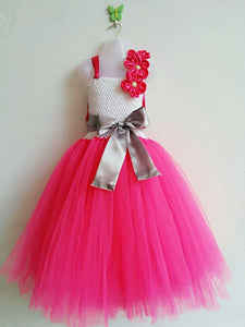 Fuschia And White Tutu Dress