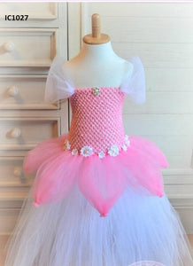 Pink  & White Tutu Dresses For Girls
