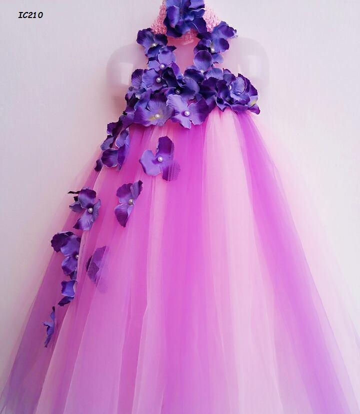 Purple Birthday Tutu Dresses For Girls