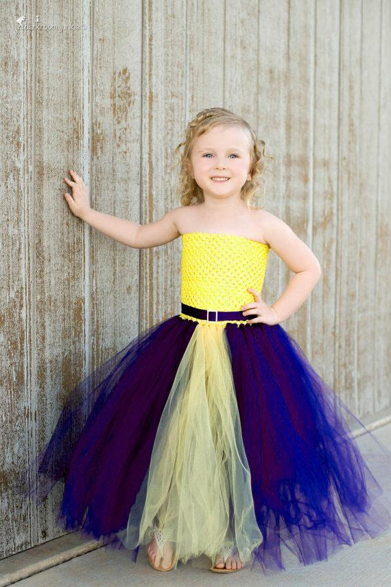 Blue & Yellow  Tutu Dresseses For Babies