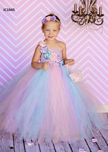 Load image into Gallery viewer, Pink & Blue Tutu Dress For Girls