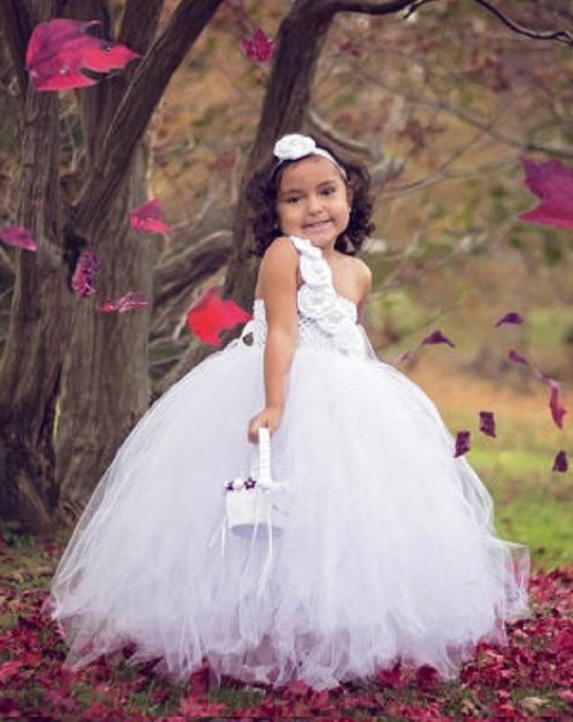 White Tutu Dress For Girls