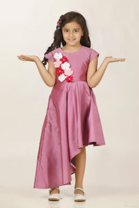 Winecolor stylish dresses for girls for party