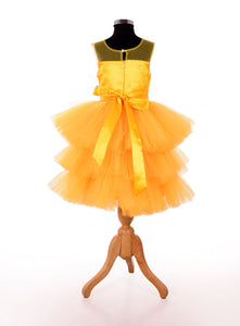 Yellow designer dresses for girls for party