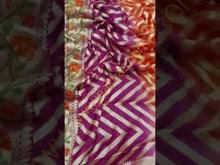 Load and play video in Gallery viewer, Purple Banarasi Meenakari saree