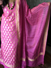 Load image into Gallery viewer, PINK Banarasi Khaddi Salwar Suit