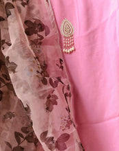 Load image into Gallery viewer, Pink Salwar Suit with Beautiful Organza Dupatta