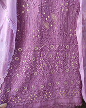Load image into Gallery viewer, Purple Chikankari Gota Salwar Suit