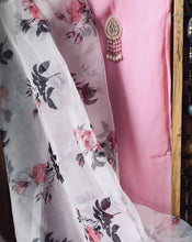 Load image into Gallery viewer, Baby Pink Salwar Suit with Beautiful Organza Dupatta
