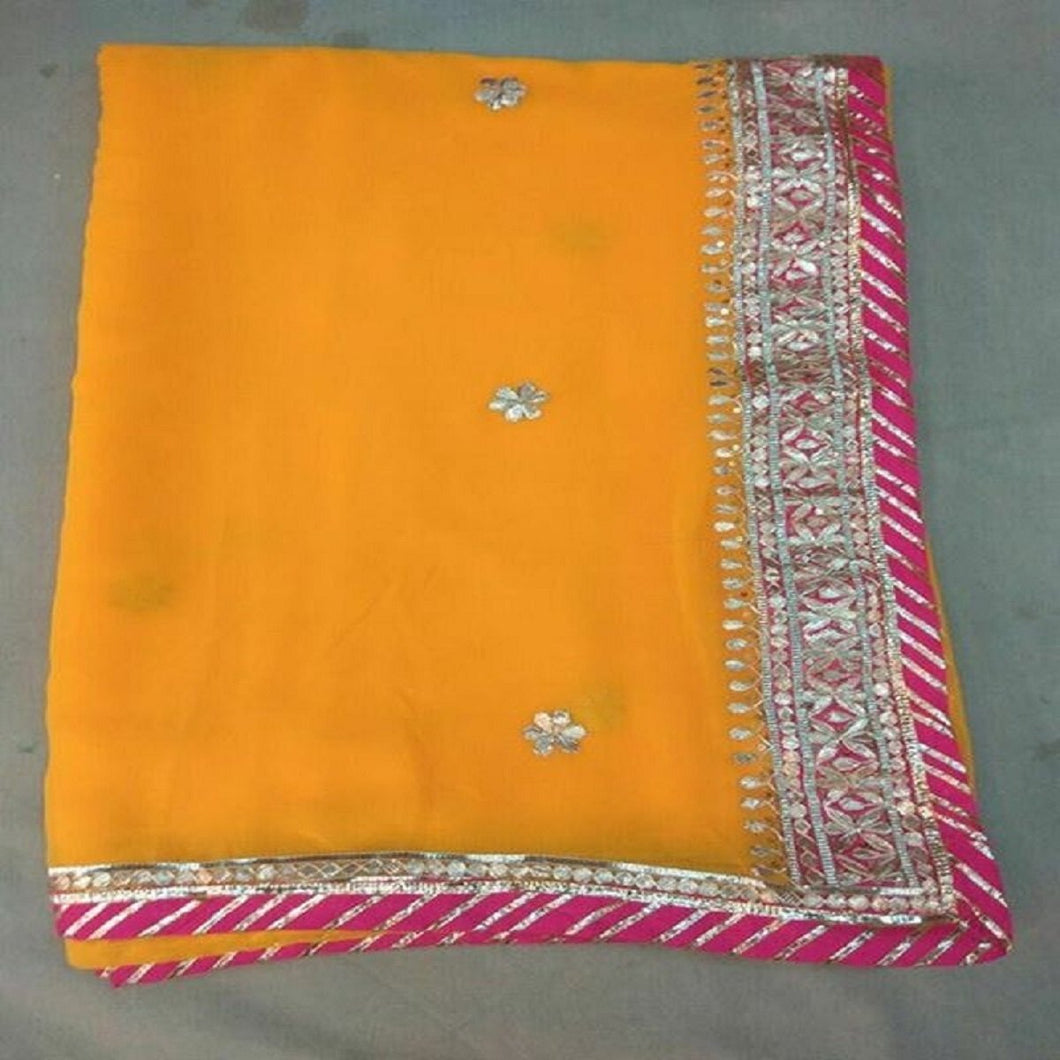 mango gota patti saree design,gota work saree,gota work saree online rates