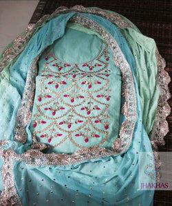 Stylish Sky Blue Gotawork Salwar Suit